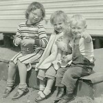 Marlyce, Debbie, & Bob  - 1957
