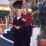 Mom & Dad - Alaskan Cruise on Stairs