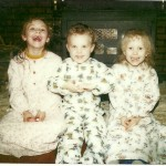 Corrie, Barry, & Amy in new PJs