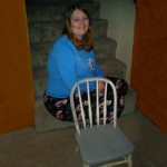 Corrie and her little chair today