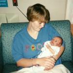 Corrie with baby Josh