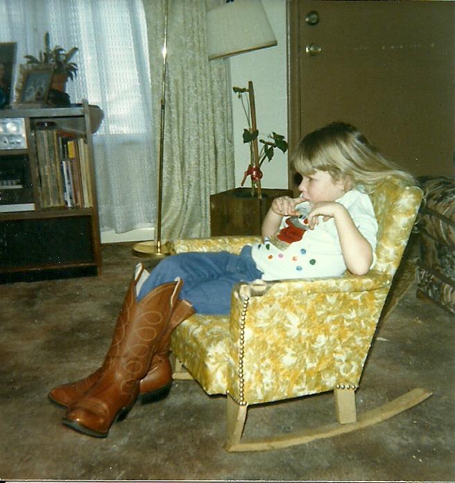 Jessi in Grandpa's Boots