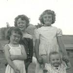 Linda Knox, Margee Knox, Marlyce Schulenberg, Debbie Schulenberg - 1954