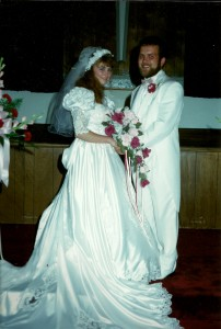 Corrie and Kevin Petersen Wedding Day July 17, 1993