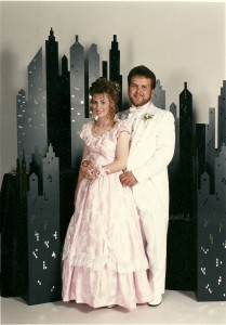 Corrie and Kevin Petersen prom 1991