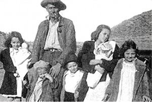 Grandpa Byer and 6 of the kids