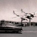 Grandma, Grandpa, & Mom by a plane