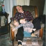 Dad and Ryan sleeping