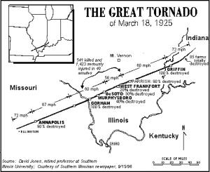 Tri-State Tornado map