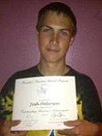 Josh & his Presidents Education Award 5-9-13