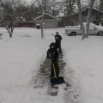 Shoveling the walk