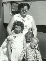 Joann Schulenberg, Marlyce, Debbie, and Robert - 1958