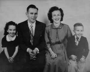 Shirley, Uncle Jim, Aunt Ruth, and Larry