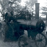 Aunt Bertha on a SteamTractor