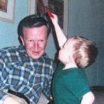 Gene Fredrick and grandson Daniel