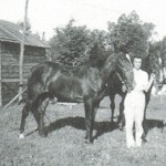 Aunt Ruth and her race horse
