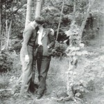Aunt Ruth kissing Selmer Drolsom