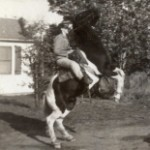 Ruth on a horse
