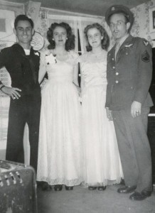 Uncle George, Aunt Evelyn, Mom, & Dad at the Military Ball