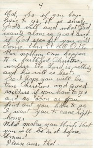 A Letter from Grandma Spencer to son, Allen Spencer