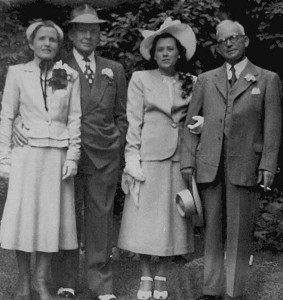 Bertha & Arthur Hallgren and Elsa & Frank Lawrence