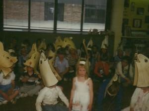 Amy's Kindergarten program 1981