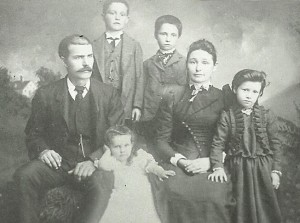Benjamin F DeGood & Mary Martha Nickell DeGood family Taken at Humansville, Missouri 1891a