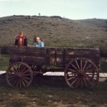 Dad and Robbie and the old wagon a