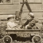 Allen & William Spencer in wagon