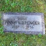 Anna Spencer grave