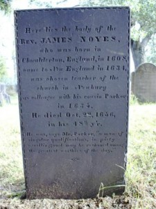 Grave of Rev James Noyes I