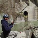 Chris fishing