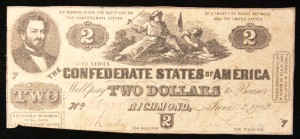 Confederate two dollar bill