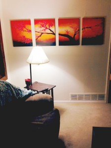 Lacey's living room