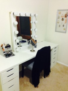 Lacey's dressing room