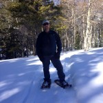 Barry snowshoeing