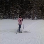 Jennifer skiing