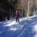 Kelli snowshoeing