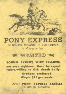 Pony Express Help Wanted