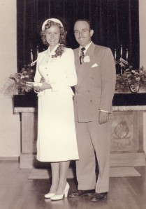 Collene Ione Byer & Allen Lewis Spencer wedding day July 18, 1953