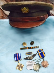 Dad's Dress Uniform Hat and Medals