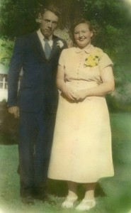 Walter & Joann Schulenberg wedding day 1949