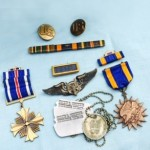 Dad's Dress Uniform Hat and Medals a