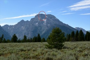 Mt Moran Plane Crash location