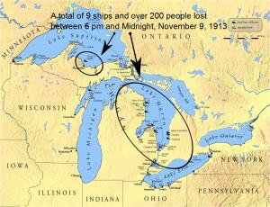 White Hurricane Shipwrecks 1913