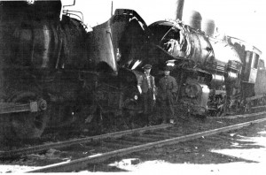 Train Wreck at Forsyth, MT]pm yard May 2, 1919 Chester Leary