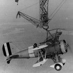 Sparrowhawk hanging from USS Macon