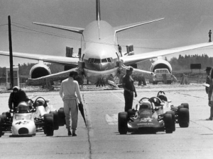 cars on the runway
