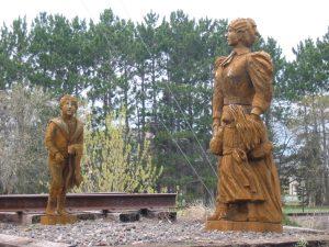 Statues at Hinckley