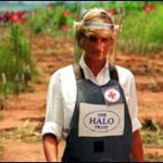 Diana fighting against landmines